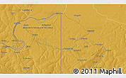 """Physical 3D Map of the area around 12°22'13""""S,29°49'30""""E"""