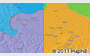 """Political 3D Map of the area around 12°22'13""""S,29°49'30""""E"""