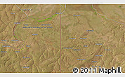 """Satellite 3D Map of the area around 12°22'13""""S,29°49'30""""E"""