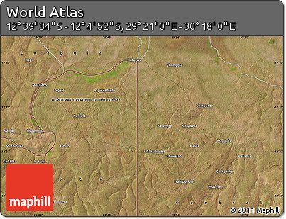 "Satellite Map of the Area around 12°22'13""S,29°49'30""E"