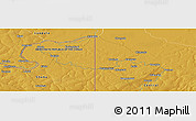 """Physical Panoramic Map of the area around 12°22'13""""S,29°49'30""""E"""