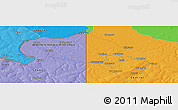 """Political Panoramic Map of the area around 12°22'13""""S,29°49'30""""E"""
