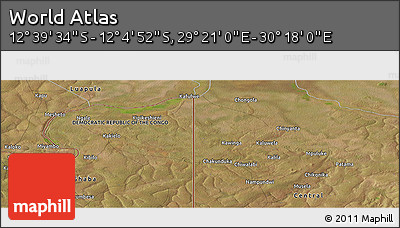 "Satellite Panoramic Map of the Area around 12° 22' 13"" S, 29° 49' 30"" E"