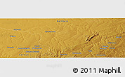 "Physical Panoramic Map of the area around 12° 22' 13"" S, 30° 40' 29"" E"