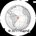 Outline Map of Rafael Jambeiro, rectangular outline