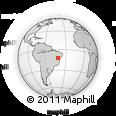 Outline Map of Lençois, rectangular outline
