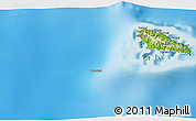"""Physical 3D Map of the area around 12°22'13""""S,43°25'29""""E"""