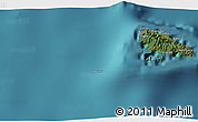 """Satellite 3D Map of the area around 12°22'13""""S,43°25'29""""E"""