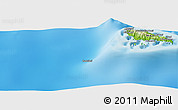 """Physical Panoramic Map of the area around 12°22'13""""S,43°25'29""""E"""