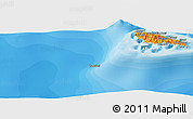 """Political Panoramic Map of the area around 12°22'13""""S,43°25'29""""E"""