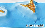 """Political 3D Map of the area around 12°22'13""""S,44°16'29""""E"""