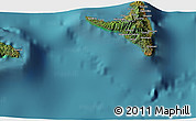 """Satellite 3D Map of the area around 12°22'13""""S,44°16'29""""E"""