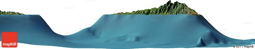 """Satellite Horizon Map of the Area around 12° 22' 13"""" S, 44° 16' 29"""" E"""