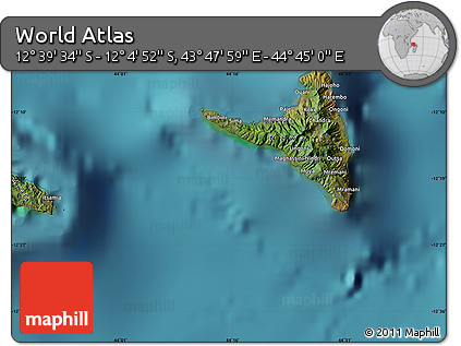 "Satellite Map of the Area around 12°22'13""S,44°16'29""E"