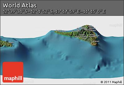 "Satellite Panoramic Map of the Area around 12°22'13""S,44°16'29""E"