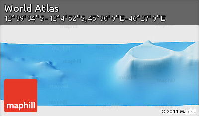 """Physical Panoramic Map of the Area around 12°22'13""""S,45°58'30""""E"""