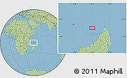 "Savanna Style Location Map of the area around 12°22'13""S,46°49'30""E"