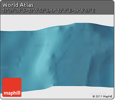 """Satellite 3D Map of the Area around 12°22'13""""S,47°40'29""""E"""