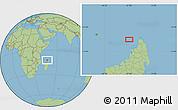 "Savanna Style Location Map of the area around 12°22'13""S,47°40'29""E"