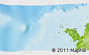 """Physical 3D Map of the area around 12°22'13""""S,48°31'29""""E"""