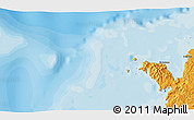 """Political 3D Map of the area around 12°22'13""""S,48°31'29""""E"""