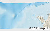"""Shaded Relief 3D Map of the area around 12°22'13""""S,48°31'29""""E"""