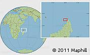 "Savanna Style Location Map of the area around 12°22'13""S,48°31'29""E"
