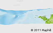 """Physical Panoramic Map of the area around 12°22'13""""S,48°31'29""""E"""