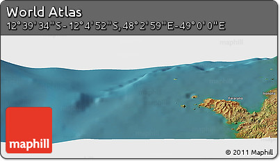 "Satellite Panoramic Map of the Area around 12°22'13""S,48°31'29""E"
