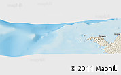 """Shaded Relief Panoramic Map of the area around 12°22'13""""S,48°31'29""""E"""