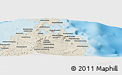"Shaded Relief Panoramic Map of the area around 12° 22' 13"" S, 49° 22' 30"" E"
