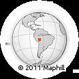 Outline Map of Puerto Maldonado, rectangular outline