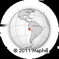 Outline Map of San Patricio, rectangular outline