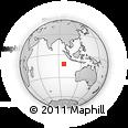 Outline Map of Bantam Village, rectangular outline