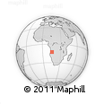 Outline Map of Caala, rectangular outline