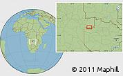 Savanna Style Location Map of Cacande