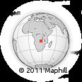 "Outline Map of the Area around 12° 53' 15"" S, 26° 25' 29"" E, rectangular outline"