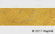 """Physical Panoramic Map of the area around 12°53'15""""S,26°25'29""""E"""