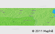 """Political Panoramic Map of the area around 12°53'15""""S,26°25'29""""E"""