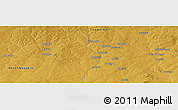 "Physical Panoramic Map of the area around 12° 53' 15"" S, 27° 16' 29"" E"