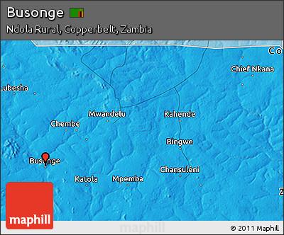 Political 3D Map of Busonge