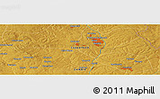 Physical Panoramic Map of Busonge