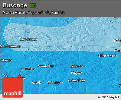 Political Panoramic Map of Busonge