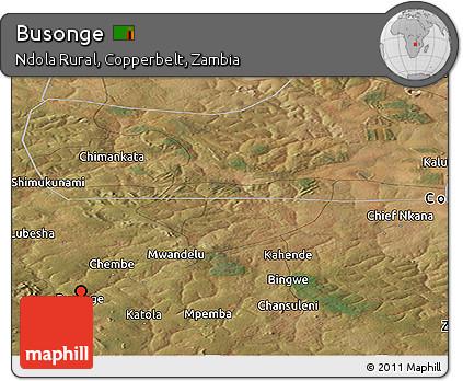 Satellite Panoramic Map of Busonge