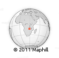 Outline Map of Pelu, rectangular outline