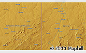 "Physical 3D Map of the area around 12° 53' 15"" S, 29° 49' 30"" E"