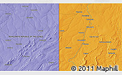 """Political 3D Map of the area around 12°53'15""""S,29°49'30""""E"""