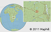 "Savanna Style Location Map of the area around 12°53'15""S,29°49'30""E"