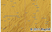 """Physical Map of the area around 12°53'15""""S,29°49'30""""E"""