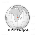 Outline Map of Mpandala, rectangular outline